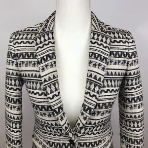 Banana Republic Jackets & Coats - Banana Republic Black White Blazer Fitted Size 00